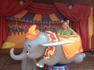 A photo op at the new Dumbo ride in September.