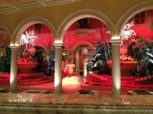 Lobby Check-in desk at the Bellagio in Las Vegas