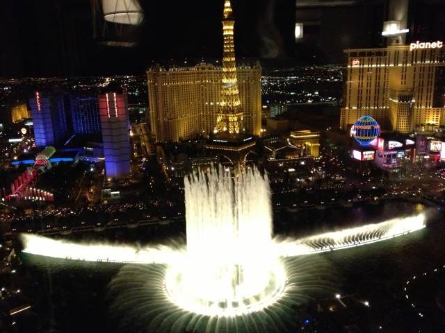 The Bellagio Fountains in Las Vegas