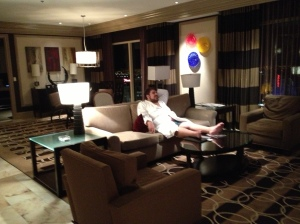 Just a small part of our complimentary penthouse suite at the Bellagio