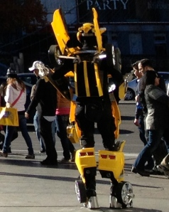 The bumblebee character from Transformers was ready to take his picture with you along the Las Vegas Strip.©Jean Janssen