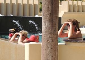 Whale watching from the pool.  Villa Gran Vista, Pedregal, Cabo San Lucas, Mexico.©Robert Kochman