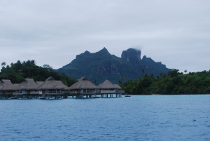 Typical over-the-water bungalows as resort accommodations in Bora Bora©Jean Janssen