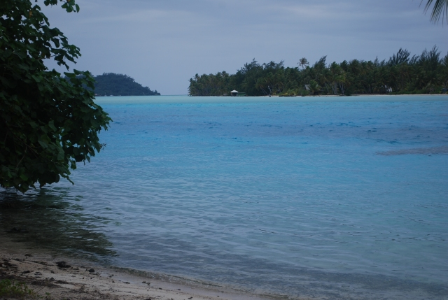 Why you come to the south pacific...the beautiful clear water and white sand beaches.  Near Bora Bora in French Polynesia©Jean Janssen
