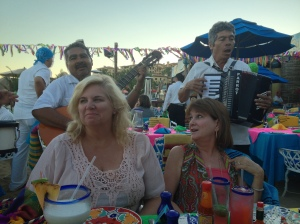 Margaret and I enjoying the mariachis at The Office.  Cabo San Lucas, Mexico.