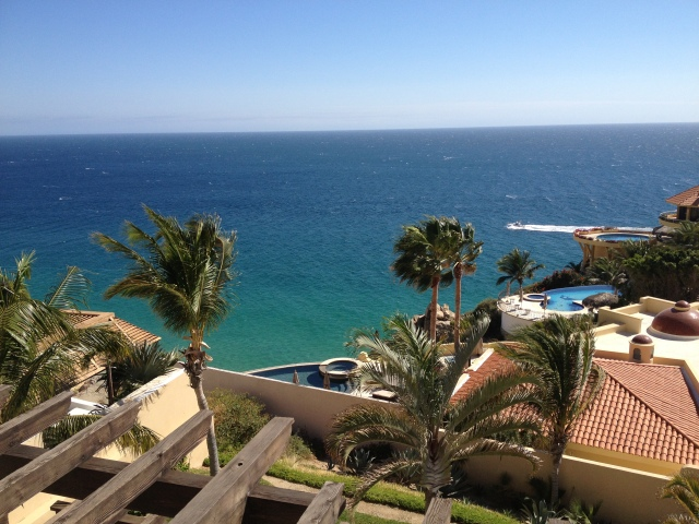 View of the Pacific from the terrace of our rented home in Petragal in Cabo San Lucas, Mexico©Jean Janssen