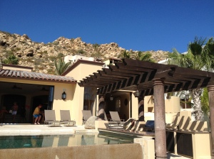 Our pool, complete with swim-up bar.  Villa Gran Vista, Cabo San Lucas, Mexico.©Jean Janssen