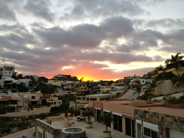 A sunset view from our terrance our last night in Cabo San Lucas. ©Jean Janssen