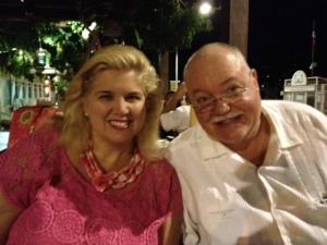 Boris and I at La Taverna Gastro Bar on the Marina Pier in Cabo San Lucas, Baja, Mexico