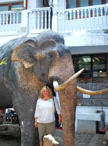 At the Gangaramaya Temple in Colombo, Sri Lanka.