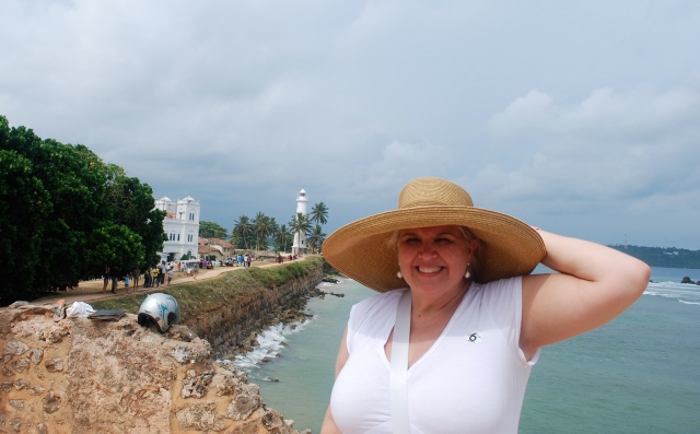 Natasha along the ramparts at the Dutch Fort in Galle, Sri Lanka.