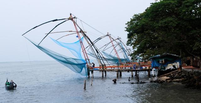 Chinese Fishing Nets, Fort Kochi, India ©Jean Janssen