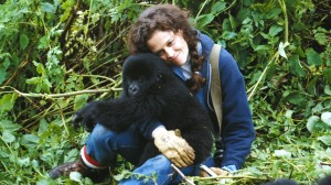Surgorney Weaver as Dian Fossey in Gorillas in the Mist for which she was nominated for an Academy Award as Best Actress.