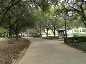 a section of Southwestern University's academic mall (without a puddle in sight).©Jean Janssen
