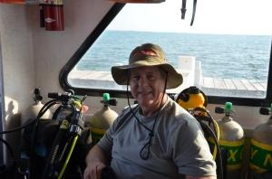Bill Fuqua, our amazing underwater photographer. ©Donna Collins