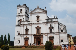 The Cathedral of St. Catherine in Old Goa, India.  The remains of St. Francis Xavier are brought to the Cathedral for viewing during the 45-day period each 10 when they are lower from the side altar at the Basilica of the Bom Jesus. ©Jean Janssen
