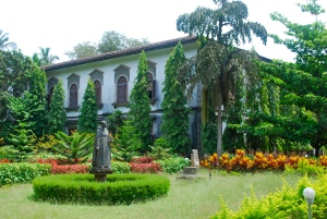 The beautiful grounds at the Cathedral of St. Cajean, Old Goa, India. ©Jean Janssen