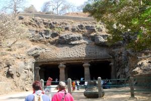 Cave entrance, Elephanta Island. ©Jean Janssen