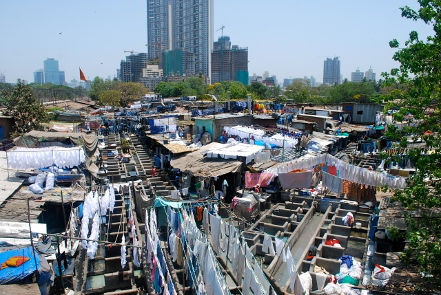 """""""Doing the wash""""  Mumbai, India. ©Jean Janssen"""