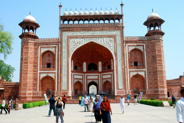 The main gate to the Taj Mahal, Agra, India. ©Jean Janssen