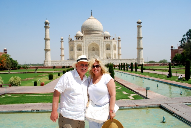 Boris and Natasha at the Taj Mahal Agra, India.