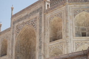 Beautiful detail work on the Taj Mahal, Agra, India. ©Jean Janssen