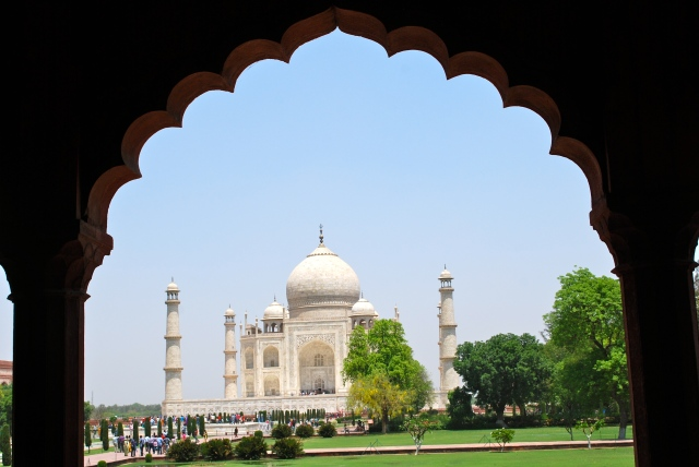 A picture taken by our local guide at the Taj Mahal.