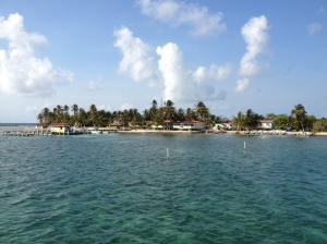 View of the resort from our dive boat, the Ms. Ellie. ©Jean Janssen