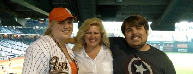 Maggie, Natasha, and Rocky after the game. ©Ann Janssen