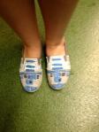 One fan's R2D2 shoes. ©Jean Janssen