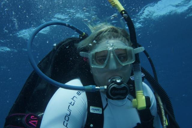 Natasha loves her diving. ©Bill Fuqua