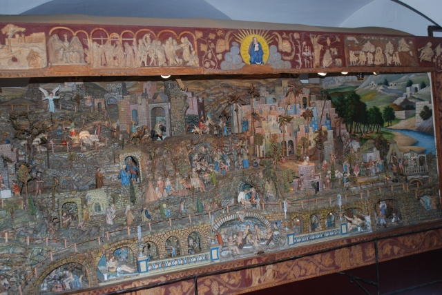 This Nativity was constructed between 1900 and 1939 and has over 600 figures, most move. ©Jean Janssen