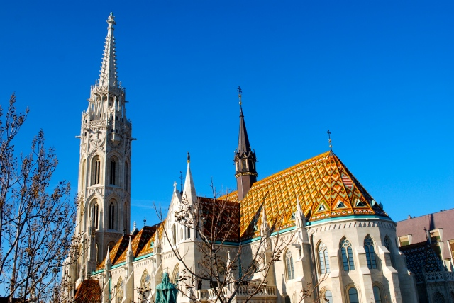 The porcelain tile roof of St. Matthias's Church, Budapest