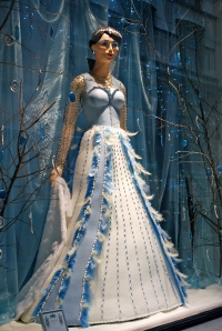 This snow queen was in the confectioner Demel's window.  Demel supplied pastries to the Austrian royal family.  The snow queen is made entirely of sugar. ©Jean Janssen