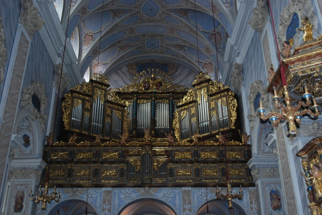 The organ in the Church at Gottweig Abbey, Krems, Wachau Valley, Austria. ©Jean Janssen