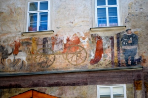 Wall Fresco, Krems, Wachau Valley, Austria ©Jean Janssen