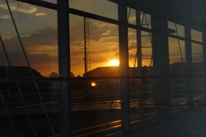 Our first South African sunset. Johannesburg Airport. ©Jean Janssen