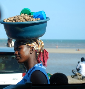 Get a snack of peanuts at the beach, Maputo,  Mozambique ©Jean Janssen