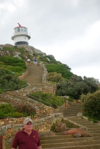 Boris at the lighthouse at Cape Point, Cape of Good Hope, South Africa. ©Jean Janssen