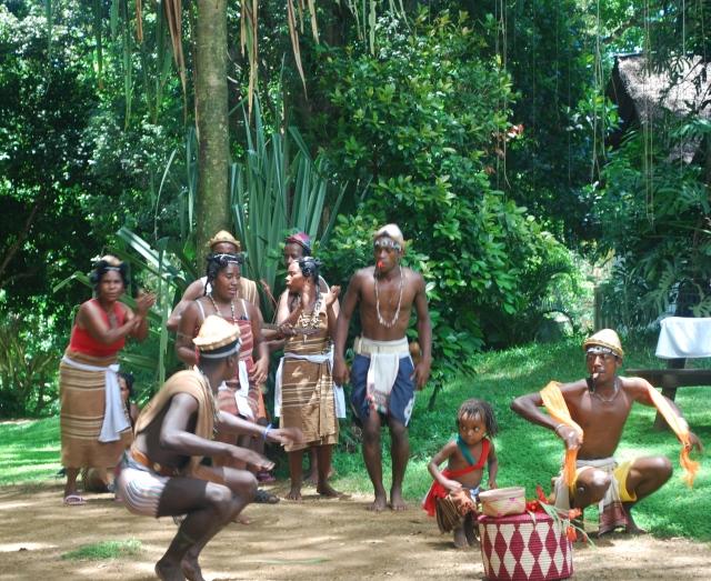 Native dancers at the lemur reserve, Madagascar