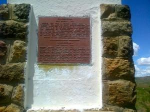 Monument at Isandlwana.