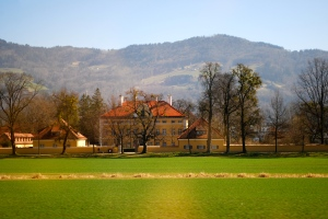 This is the Villa used for shots of the Von Trapps Schloss in the film. ©Jean Janssen