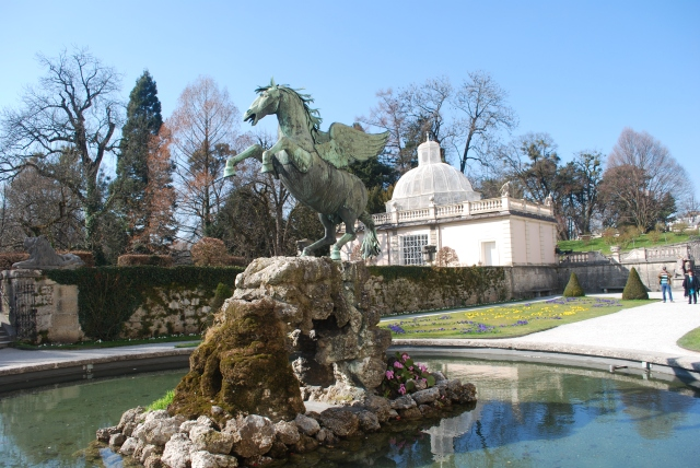 "Pegasus Statute in Mirabell Gardens, Salzburg, Austria featured in the S of M as part of ""Do Re Mi"" ©Jean Janssen"