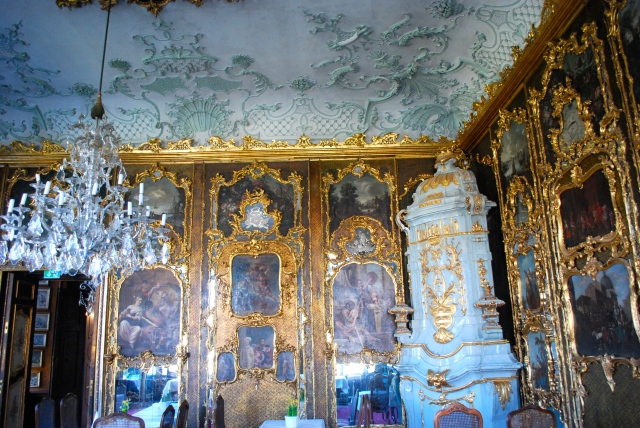 Venetian Room in Schloss Leopoldskron, inspiration for the ballroom in the Sound of Music. ©Jean Janssen