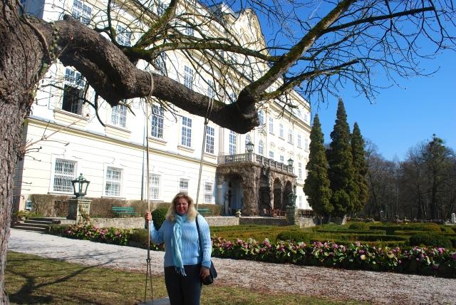 Natasha at the Schloss Lepoldskron, Salzburg, Austria