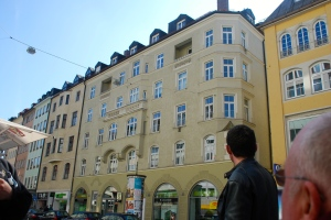 The original meeting spot (beer hall) of the Nazi party.  Like other spots related to Nazi history, there is no marker on the building.  The ground floor is now an Apple Store. ©Jean Janssen