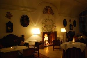 Welcoming fire, Schloss Leopoldskron, Salzburg, Austria. ©Jean Janssen