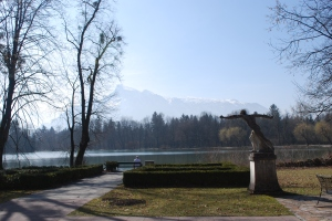 Untersberg Mountain as seen from the grounds of Schloss Leopoldskron, Salzburg, Austria ©Jean Janssen