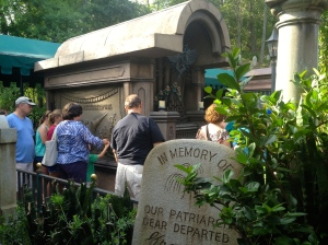 One place you might want to skip the fast pass in the Haunted Mansion has just been updated with an interactive and entertaining expanded graveyard in the standby line. ©Jean Janssen