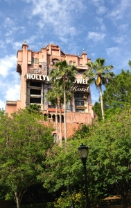 Surrisingly, The Tower of Terror is not grouped with Toy Story or the Rock N Roller coaster for fast pass +.  This is good news for Emma and Maggie; its their favorite ride in Hollywood Studios. ©Jean Janssen